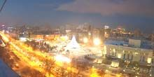 Webcam Tyumen - Tyumen 400th Anniversary Square, Drama Theater