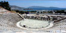 Ancient amphitheater, view of the castle Bodrum