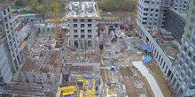 Webcam Moscow - Construction of a residential complex on the Amurskaya
