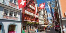 Central street of Appenzell Zurich