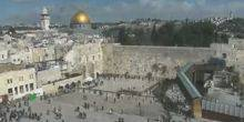 Webcam Jerusalem - The area in front of the Wailing wall, Mosque of Omar