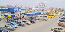 Parking near supermarket ATB on the market Melitopol