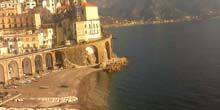Webcam Salerno - Atrani commune beach