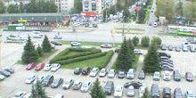 The area in front of automobile plant Ulyanovsk