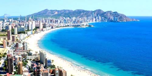 Webcam Benidorm - Panorama of the bay with beaches