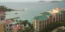 Webcam Charlotte Amalie - Panorama of the bay from the island of St. Thomas