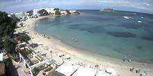 Webcam Badalona - The beach on the shore of a beautiful bay