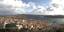 Webcam La Maddalena - Panorama from a height, view of the bays