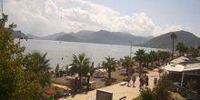 The central beach on the waterfront Marmaris