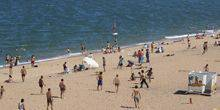 Webcam Makhachkala - The beach on the shore of the Caspian sea