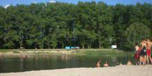 Webcam Gadyach - City beach on the river Psyol