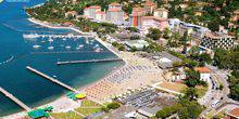 Webcam Portoroz - Restaurants on the beach