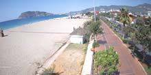 Webcam Alania - Promenade with beaches