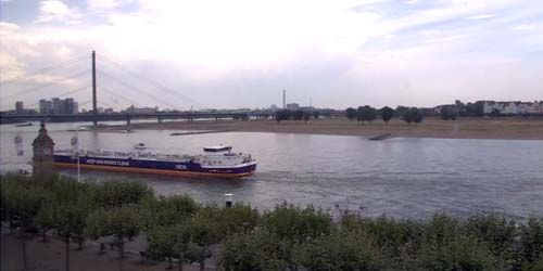 Webcam Dusseldorf - Reinkney Bridge, Rhine Embankment