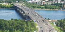Webcam Krasnoyarsk - October bridge