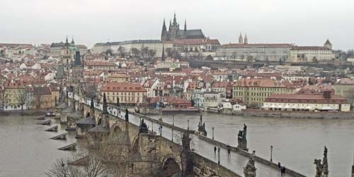 Webcam Prague - Charles Bridge, Prague Castle