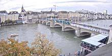 Rhine River, view of the Middle Bridge Basel