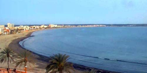 Webcam Palma (Mallorca Island) - Beaches on the coast of Can Pastilla