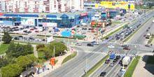 Webcam Pskov - Shopping centers Imperial and Peak 60