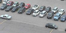 Parking in front of the regional administration Vladimir