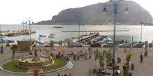 Webcam Palermo (Sicily) - The central area of the resort of Mondello