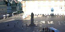 Webcam Coburg - Central Square, a monument to Prince Albert