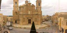 Ancient church on the island of Gozo in the village of Arb Victoria