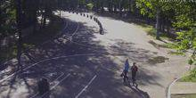 Webcam Moscow - Great circle, alley of arches in Sokolniki