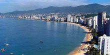 Beach Kondeza from a height Acapulco