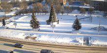 Webcam Kirovo-Chepetsk - The central square of the Constitution