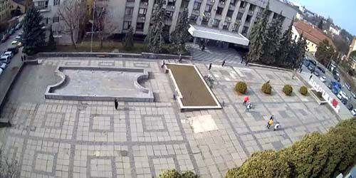 Webcam Uzhgorod - Postal Square, City Council