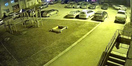 Webcam Ufa - The courtyard of an apartment building