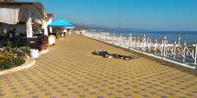 Webcam Alushta - Path by the sea