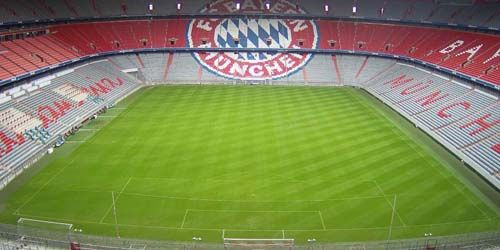 Webcam Munich - Football field with stands at the Allianz Arena