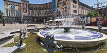 Webcam Yerevan - The fountain in the square of Charles Aznavour
