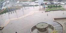 Webcam Bishkek - Fountain near Kyrgyztelecom, Chui Avenue