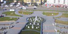 Webcam Ulan-Ude - Fountain in front of the Drama Theater