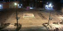 Webcam Ust-Kut - View of the fountain with Rechnikov's DK