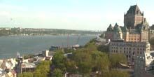 Webcam Quebec - Chateau Frontenac hotel on St. Lawrence River