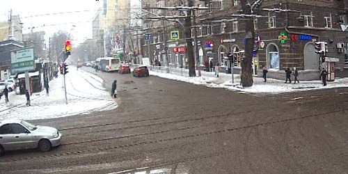 Webcam Dnepr (Dnepropetrovsk) - Gagarin Avenue