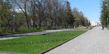 Green scene on the alley of Heroes Chernigov
