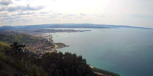 Webcam Trieste - Panorama from above, view of the Gulf of Trieste