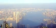 Webcam Hong Kong - Victoria harbor, panorama from the observatory