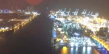 Webcam Miami - Seaport - Panorama from a height