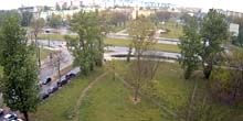 Webcam Lodz - Square with a monument to Cardinal Stefan Wyszynski