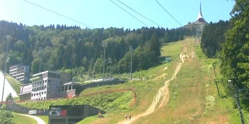 Webcam Liberec - Cable car to the top of Jested, TV tower