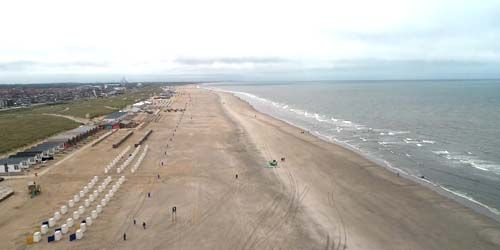 Webcam Hague - Coast with beaches of Katwijk aan Zee