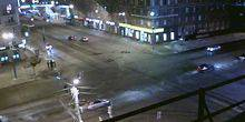 Webcam Omsk - The intersection on the Avenue of Karl Marx