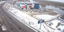 Webcam Krasnoyarsk - Komsomol shopping center, view of the Yenisei River