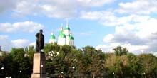 Webcam Astrakhan - Lenin Square - view of the Astrakhan Kremlin
